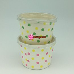 Wholesale Wholesale Register Paper - Hot!!!50pcs Plain White Round paper cupcake case ice cream cups NO Lid by Registered airmail