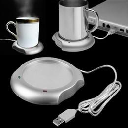 Wholesale Mug Heating Pad - Wholesale- 2016 USB Insulation Coaster Heater Heat Insulation electric multifunction Coffee Cup Mug Mat Pad Brand New