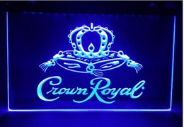 Wholesale Crown Royal Neon Lights - Crown Royal Derby Whiskey 2 size NR beer bar pub club 3d signs led neon light sign man cave
