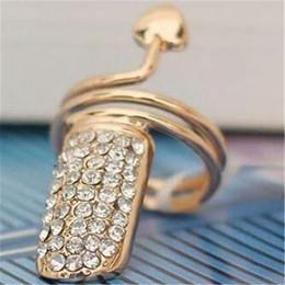2019 tendências da moda do prego Min.order é $ 15 (ordem da mistura) - tendências européias e americanas da forma personalizada Heart Nail Ring-J063 tendências da moda do prego barato