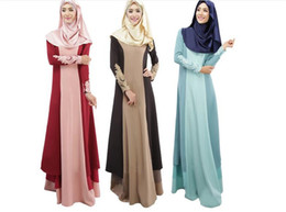 Wholesale Islamic Clothing Women Wholesale - 5pcs Abaya turkish women clothing muslim dress islamic jilbabs and abayas musulmane vestidos longos turkey hijab clothes dubai kaftan M056