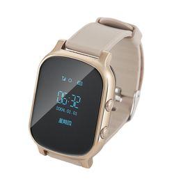 Wholesale Elder Phones - T58 Smart Watch Kids Child Elder Adult GPS Tracker Smartwatch Personal Locator GSM Tracking Device LBS WiFi Call Free Web APP Realtime