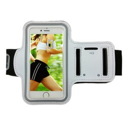Wholesale Neoprene Running Armband - For iphone 7 Armband Cover Sports Running Gym Case Workout Armband Holder Pounch For Samsung S8 S7 Arm Phone Bag