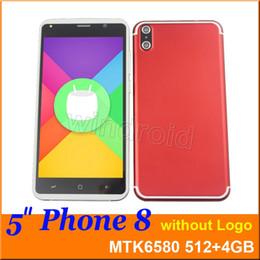 "Wholesale Cheap Dual Phones - Cheap phone 8 5"" Quad Core 3G smart phone MTK6580 512 4GB Android 6.1 854*480 Dual SIM camera 5MP WCDMA Unlocked gesture wake mobile DHL 10"