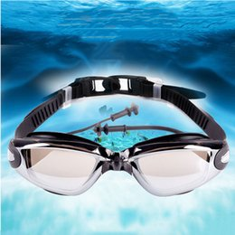 Wholesale Swim Professional - Summer Swim glasses Men Women Anti Fog UV glass Protection Swimming Goggles Professional Electroplate Waterproof Swimming glasses