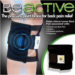 Wholesale Back Pain Support - Beactive Pressure Point Brace For Back Pain Therapeutic Unisex Left Right Knee Pads Supports Leg Be Active Sports Safety CCA6567 100pcs