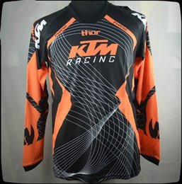 Wholesale Fox Racing Bicycle - KTM motorcycle racing fox long sleeves t-shirts jersey motorcross bicycle biking cycling T shirts motorbike moto cycling clothing