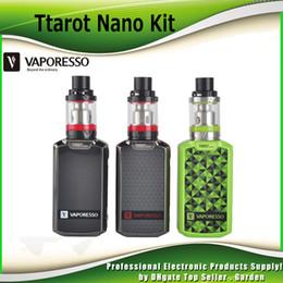 Wholesale Nano Green - Authentic Vaporesso Tarot Nano TC Starter Kit with 2500mAh Battery 80W Tarot Nano Box Mod 2ml VECO EUC Tank 100% genuine DHL Free 2241011
