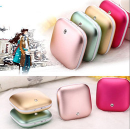 Wholesale Hand Warmers Electric - Portable Mini USB Carat Hand Warmer 3500mAh Power Bank Heater External Rechargeable Electric Battery Bank OOA3522