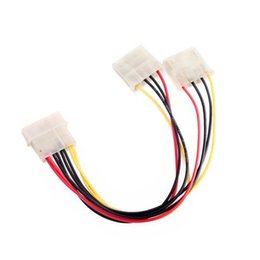 Wholesale New Computer Power Supply - Wholesale- 2016 New Computer Molex 4 Pin Power Supply Y Splitter Cable