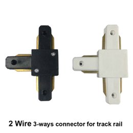 Wholesale Three Way Switches - T-type Track light rail connector fitting led track rail connector connectors three-way connector aluminum Free shipping