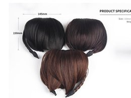 Wholesale Clip Bangs Front - New Women Hair Front Bangs Clip Short Braided Fringe Hairband Hair Accessories 3F5006