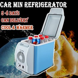 Wholesale Portable Refrigerator Camping - Wholesale-DHL 6L12V Car Refrigerator Mini Fridge Portable Freezer Automotive Cold Heating Dual-use TRAVEL Car Refrigerator CAMPING