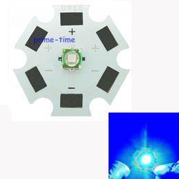 Wholesale Cree Xpe Grow Light - Wholesale-5pcs Cree XP-E XPE B5-M3 1W 3W LED Royal Blue 450-455nm LED Emitter Light 20MM PCB Heatsink For Plant Grow