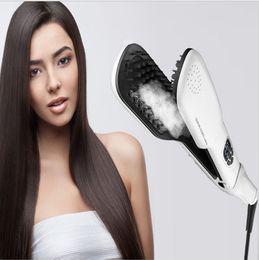 Wholesale Electric Magic Brush - 2016 Newest Magic Hair Straight Steam Comb Hair Straightener Brush Electric Steampod Straight Hair Comb Straightener Iron