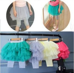 Wholesale Culottes Leggings - Tutu Skirt Leggings Girls Summer Five Point Shorts Lace Tights Skinny Pants Baby Clothing Child Fashion Princess Leggings Kids Culottes J375