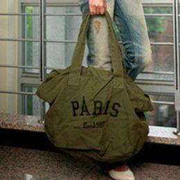 Wholesale Artwork Shops - 2017 Women Canvas Bags Ladies New PARIS Pattern Large Capacity Vintage Style Shoulder Bag Fashion Shopping Totes Bag