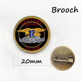 Wholesale Novelty Wedding Anniversary - Novelty interesting bijoux military brooch The great seal of the United states of america animal gift for men and father