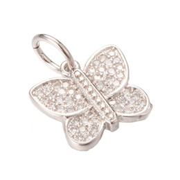 Wholesale Pendant Nickel - Silver Jewelry Pendant Charm New Fashion Lead&Nickel&Cadmium Free Gold Brass Micro Pave Pendant ICPS024 Size 18*13.9mm