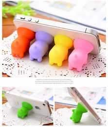 Wholesale Pig Cups - Cute Pig Silicone Suction Cup Phone Stand Holder Sucker For iphone 7 6 Plus 4 5 For Sumsung S5 S6 Mobile Phone Cellphone