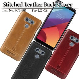 Wholesale Premium Skin Case - Pierre Cardin Premium Genuine Leather Slim Hard Fit back Case snap cover Skin for LG G6