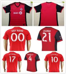 Wholesale Canada Football Jersey - Wholesale 2017 Canada Toronto FC Soccer Jersey 17 18 MLS Toronto Home Red BRADLEY GIOVINCO OSORIO ALTIDORE Customize Sports Football Shirt