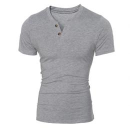 402425f98de Wholesale- Summer Men t-shirt 2016 New Fashion Top Tees Scollo a V manica  corta T Shirt Abbigliamento uomo Casual Tee Shirts hombre t-shirt XXL  camicia di t ...