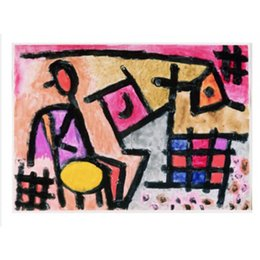 Wholesale modern and contemporary art Antiquated Industry Paul Klee Paintings for living room decor hand painted