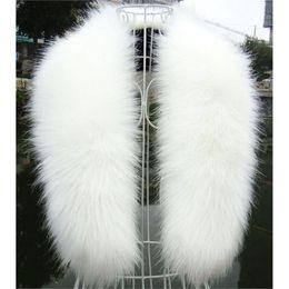 Wholesale Man Steal - Wholesale- NEW Winter Fashion Luxury Artificial Fox Fur Collar Scarf Warm Warmer Shawl Stole White
