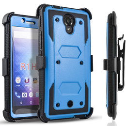 Wholesale Purple Building Lighting - For BLU R1 HD LG lv5 k10 2017 k20 plus aristo heavy duty armor holster belt clip case with Built-in Screen Protector