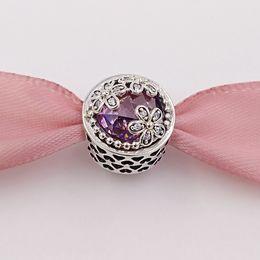 Perlas de plata de ley s925 online-Cuentas genuinas de plata esterlina S925 deslumbrante margarita pradera, rosa claro Cz Fit pulseras de marca de estilo europeo collares ALE 792055PCZ