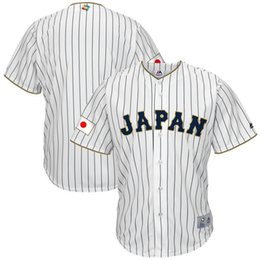 Wholesale 2017 The World baseball Classic Replica Jersey Japan Canada Italy USA Cuba Dominican Republic Majestic White Cool Base Jersey