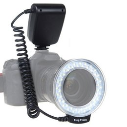 Wholesale Dslr Lcd - RF-550D Macro 48 LED Ring Flash Light LCD Display Power Control for Canon Nikon Pentax Olympus Panasonic Sony DSLR