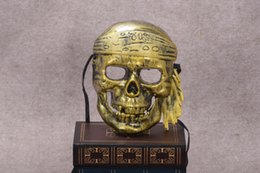 Wholesale Pirates Makeup - New arrival Halloween Bar Makeup Ball Horror Scary Ghost Festival Skull Pirate Mask PH033 mix order as your needs