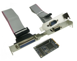 Wholesale Pcie Port Serial Card - MINI PCI-e adapter to RS232 serial and parallel transfer COM mini pcie parallel printer port expansion card