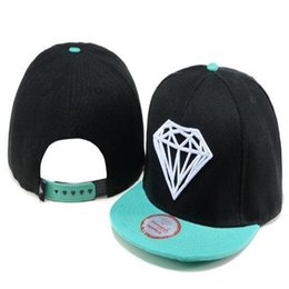 Wholesale Snapback Plastics - Diamond Cap Men Snapback Hats Adult's Hip Hop Fashion Hats Fitted Baseball Hat Mac Miller Valentine Gift for Mens Women Caps DHL Free