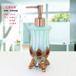 Wholesale Resin Dispenser - Wholesale- Vintage Baroque 350ml 12oz Resin Gold Royal Luxury Bathroom Soap  Lotion Pump Dispenser Hand Sanitizer Bottle