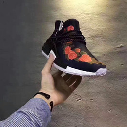 Wholesale Real Families - Friends and Family Human Race 2017 Factory New Pharrell NMD Real Boost with Nipples Runner Pharrell Williams NMD Running Shoes size 40-45