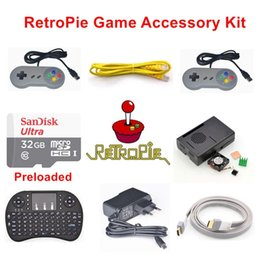 Kit di accessori per console di gioco RetroPie precaricato Modello B 32GB Raspberry Pi 3 da accessori jaguar fornitori