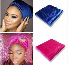 Wholesale Tube Hair Band - 2017 New Velvet Headwrap Women Earwarmers Scrunchy Twist Hair Band Turban Bandana Bandage hijab Head Wrap Extra Long tube Scarf Tie India