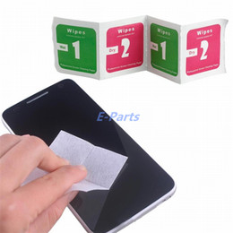 Wholesale Cell Phone Cleaning Cloths Wholesale - Dry Wet Wipes For Mobile Phone LCD Screen Clear Tempered Glass Protector Film Alcohol Cleaning Cloths Dry 2 in 1 Wipe