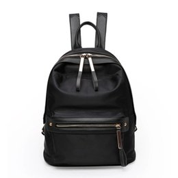 Wholesale Travel Cloth Shoulder Bag - Wholesale- Waterproof Oxford cloth travel backpack shoulder bag female college school bag nylon wild leisure mommy back female bag z794