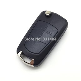 Wholesale car remotes replacements - Remote Car key for Opel Vectra C Astra H Corsa D Zafira 2 button replacement remote control key case fob with logo