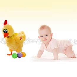 Wholesale Dancing Plush - Wholesale- 30cm Funny Electronic Laying Eggs Hens Toy Doll Crazy Singing And Dancing Electronic Plush Pets Children Gift Antistress Toys