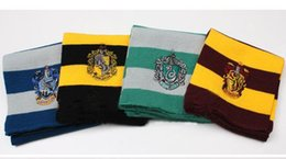Wholesale Harry Potter Birthday - Harry Potter Scarf Gryffindor Slytherin Hufflepuff Ravenclaw Knitted Neckscarf 4 Colors Available Xmas Halloween Birthday Gift Cosplay Wear