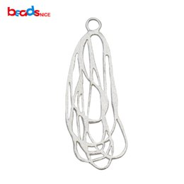 Wholesale Wholesale Sterling Jewelry Findings - Beadsnice 925 sterling silver Pendants shape like a map Christmas birthday gifts for women jewelry finding ID 35488