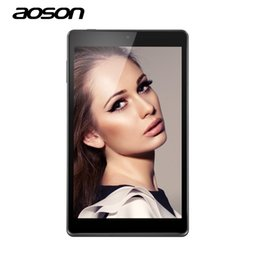 2019 hd multi-touch tablet All'ingrosso-NUOVO Aoson M812 8 pollici HD Tablet PC A33 Quad Core 1280x800 HD IPS lollipop Android 5.1 Wifi 3500mAh 1 GB di RAM 16GB ROM Dual Camera hd multi-touch tablet economici