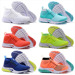 Wholesale Woven Casual Shoes - 2017 Cheap Women Running Shoes Air Presto Ultra Sneakers High Cut Weaving Casual Sports Shoes Drop Free Shipping Size 5.5-8