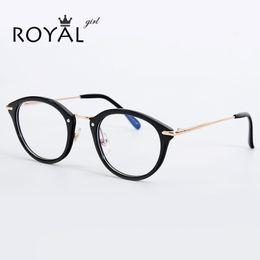 5138cba7097 Wholesale- ROYAL GIRL Classical Women Eyeglasses Frames Optical Glasses  acetate Frame Clear lens Glasses Vintage Spectacles ss718 inexpensive optical  frames ...