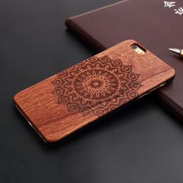 Deutschland Voller Mandala Laser gravieren hölzerne Handyfälle für iPhone 5 5s 6 6s 7plus 8plus plus x harte rückseitige Plastikabdeckung Vorlage Versorgung